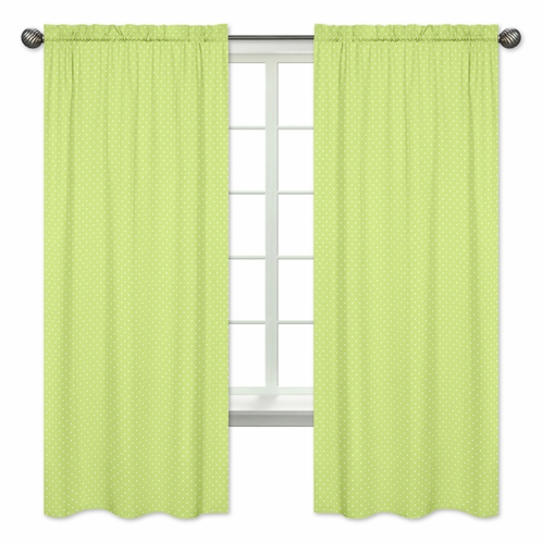 Window Treatment Panels for Turquoise and Lime Hooty Owl Collection by Sweet Jojo Designs - Set of 2 - Click to enlarge