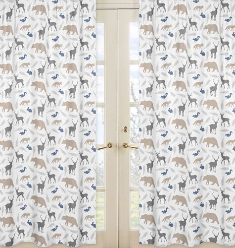 Window Treatment Panels for Woodland Animals by Sweet Jojo Designs - Set of 2 - Click to enlarge