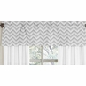 Window Valance for Black and Gray Zig Zag Chevron Bedding Collection by Sweet Jojo Designs