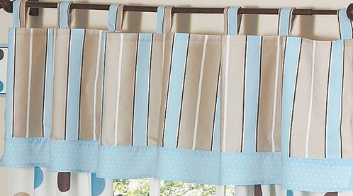 Window Valance for Blue and Brown Mod Dots Bedding Sets by Sweet Jojo Designs - Click to enlarge