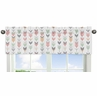 Window Valance for Grey, Coral and Mint Woodland Arrow Collection by Sweet Jojo Designs