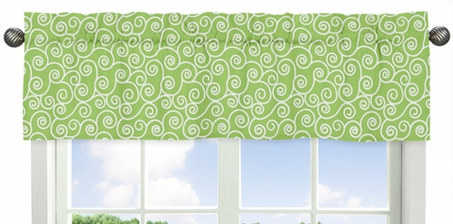 Window Valance for Olivia Pink and Green Collection by Sweet Jojo Designs - Click to enlarge
