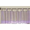 Window Valance for Purple and Brown Mod Dots Bedding Sets by Sweet Jojo Designs