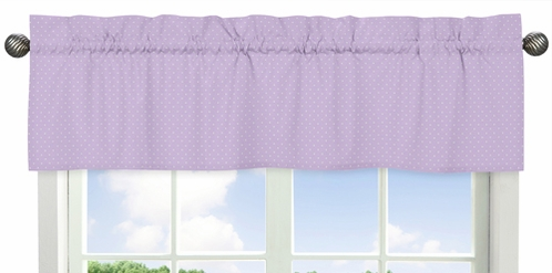 Window Valance for Purple and Brown Mod Dots Collection by Sweet Jojo Designs - Click to enlarge