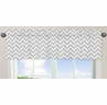 Window Valance for Turquoise and Gray Chevron Zig Zag�Bedding Collection by Sweet Jojo Designs