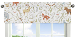 Window Valance for Woodland Animal Toile Collection by Sweet Jojo Designs