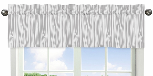 Woodland Animals Collection Woodgrain Print Window Valance - Click to enlarge