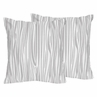 Wood Grain Print Decorative Accent Throw Pillows for Navy and White Woodland Deer Collection by Sweet Jojo Designs - Set of 2