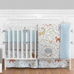 Woodland Animal Toile Baby Boy or Girl Bedding - 9pc Crib Set by Sweet Jojo Designs