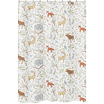 Woodland Animal Toile Kids Bathroom Fabric Bath Shower Curtain by Sweet Jojo Designs