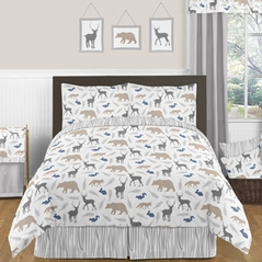 Woodland Animals 3pc Boys Full / Queen Bedding Set by Sweet Jojo Designs