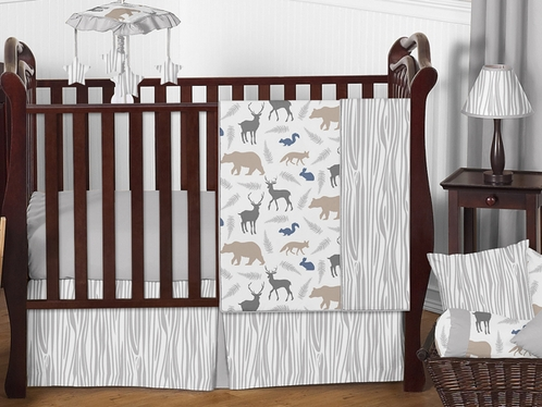Woodland Animals Baby Bedding 11pc Crib Set By Sweet Jojo Designs Click To Enlarge