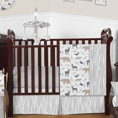 Woodland Animals Baby Bedding - 4pc Boys Crib Set by Sweet Jojo Designs