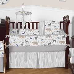 Woodland Animals Baby Bedding - 9pc Crib Set by Sweet Jojo Designs
