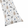 Woodland Animals Full Length Double Zippered Body Pillow Case Cover - Animal Print