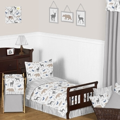 Woodland Animals Toddler Bedding - 5pc Set by Sweet Jojo Designs