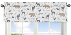 Woodland Animals Window Valance by Sweet Jojo Designs