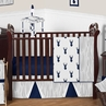 Navy and White Woodland Deer Baby Bedding - 4pc Boys Crib Set by Sweet Jojo Designs