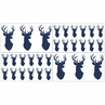 Navy and White Woodland Deer Baby, Childrens and Kids Wall Decal Stickers by Sweet Jojo Designs - Set of 4 Sheets