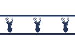 Navy and White Woodland Deer Kids and Baby Modern Wall Paper Border by Sweet Jojo Designs