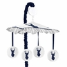 Navy and White Woodland Deer Musical Baby Crib Mobile by Sweet Jojo Designs