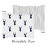 Navy and White Woodland Deer Pillow Sham by Sweet Jojo Designs