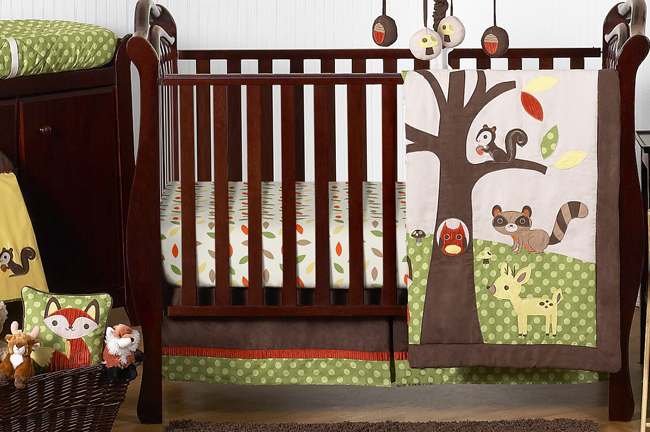 Woodland Forest Animals Baby Bedding 11pc Crib Set By Sweet Jojo Designs Only 189 99