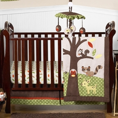 Woodland Forest Animals Baby Bedding - 4pc Crib Set by Sweet Jojo Designs