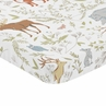 Animal Print Baby Toddler Fitted Mini Portable Crib Sheet for Woodland Toile Collection by Sweet Jojo Designs