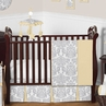 Yellow and Gray Avery Baby Bedding - 11pc Crib Set by Sweet Jojo Designs