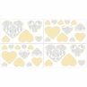 Yellow and Gray Avery Baby, Childrens and Kids Wall Decal Stickers by Sweet Jojo Designs - Set of 4 Sheets