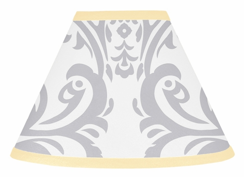 Yellow and Gray Avery Lamp Shade by Sweet Jojo Designs - Click to enlarge