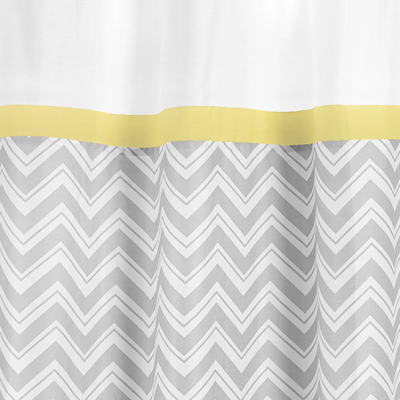 White And Yellow Shower Curtain - Mobroi.com