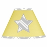 Yellow and Gray Chevron Zig Zag Lamp Shade by Sweet Jojo Designs