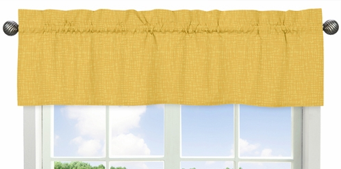 Yellow Hatch Print Window Valance for Jungle Time Collection by Sweet Jojo Designs - Click to enlarge