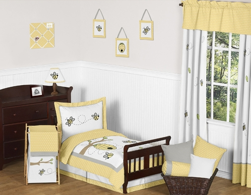 Honey Bee Toddler Bedding - 5pc Set by Sweet Jojo Designs - Click to enlarge