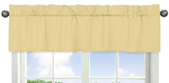 Yellow Window Valance by Sweet Jojo Designs