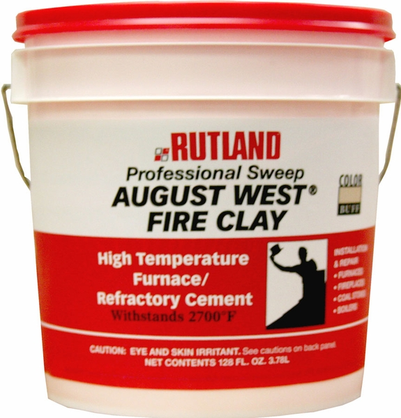 Fire Clay Mix : Gallon tub of buff colored fire clay