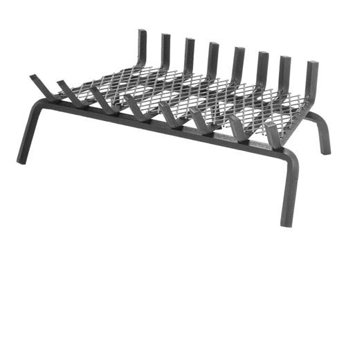 Pilgrim Eight Bar Steel Fireplace Grate with Center Leg 6 Inch