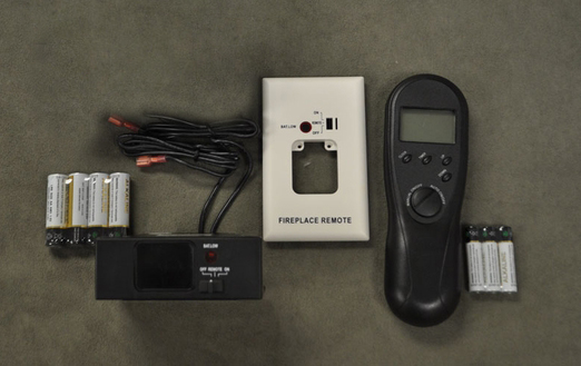 Acumen RCK-KS Manual On/Off and Thermostat DC Remote Control Kit This remote control kit has a manual on/off feature as well as a thermostat so that you control your fireplace for your best comfort. The unit features a backlit LCD screen with a temperatur