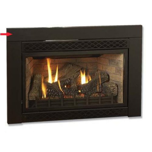Black Flat 46 In W X 32 In H Surround For Majestic 380idv Fireplace Insert