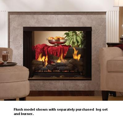 Breckenridge Premium Vent-Free See-Thru Flush Gas Firebox - 36 ...