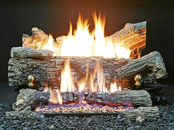 Buck Stove 30 Ev200 Oak Ember Vision Series Vent Free Natural Gas Log Set Remote Ready