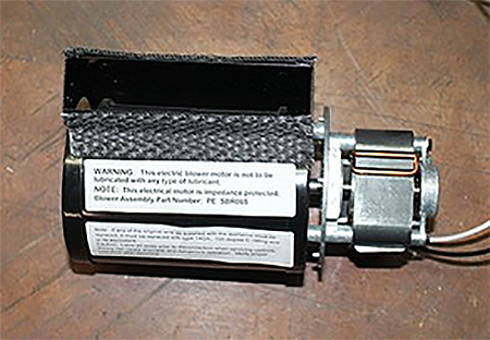 fireplace kit com double twin blower outlet