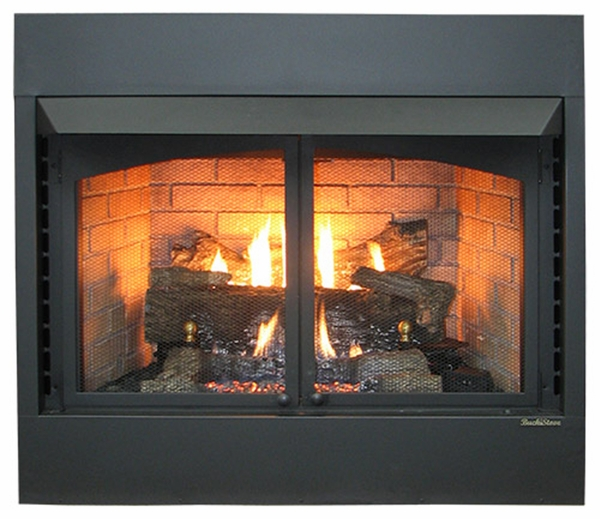 natural gas fireplace vented buck stove model 36zcbbxl ventfree gas fireplace pine logs natural