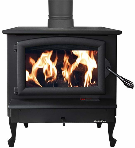 Buck Stove Model 74 Non Catalytic Wood Stove Black Door