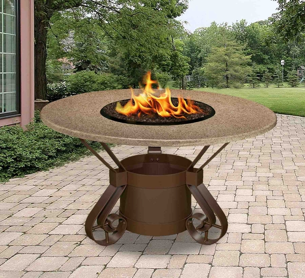 California outdoor concepts 1020 solano dining height fire pit for California outdoor concepts