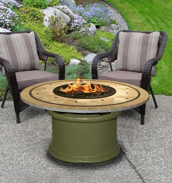 California outdoor concepts 2010 del mar chat height fire pit for California outdoor concepts