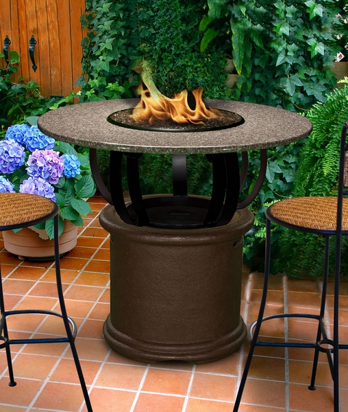 California outdoor concepts 2030 del mar bar height fire pit for California outdoor concepts