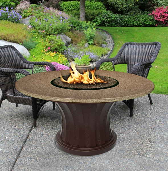 California outdoor concepts 7611 rodeo chat height fire pit for California outdoor concepts